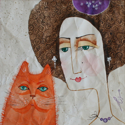 Lady with a Red Cat